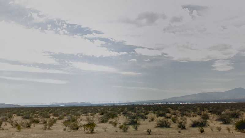 2.50 acres Lot in California City, CA. APN# 428-232-03 Street view of the property